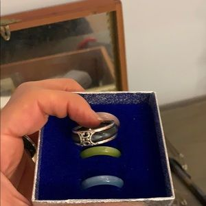Ring with interchangeable band